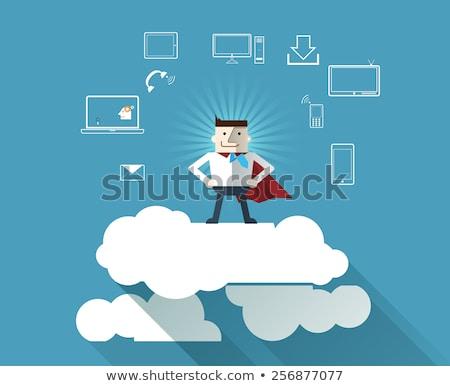 Segurança de dados desenho animado azul texto negócio Foto stock © tashatuvango
