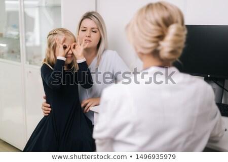 enfermeira · bebê · cuidar · em · pé · proteção - foto stock © is2