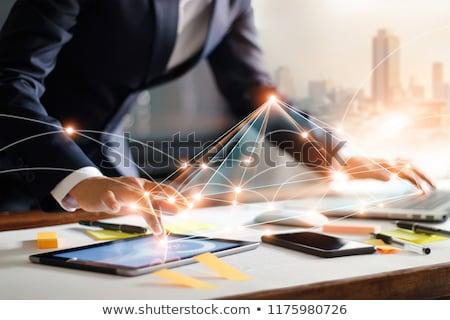 ウェブ マーケティング ノートパソコン 現代 職場 クローズアップ ストックフォト © tashatuvango