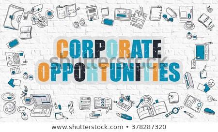 Corporate doodle ontwerp donkere Stockfoto © tashatuvango