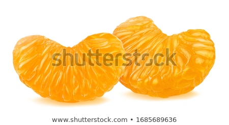 Fresh peeled mandarins, tangerines Stock photo © yelenayemchuk