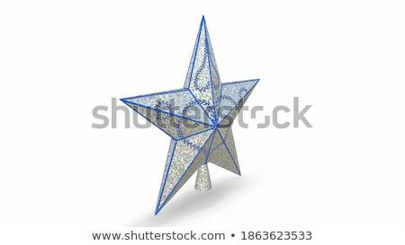 El anlamaya Noel star vektör gölge Stok fotoğraf © Sonya_illustrations