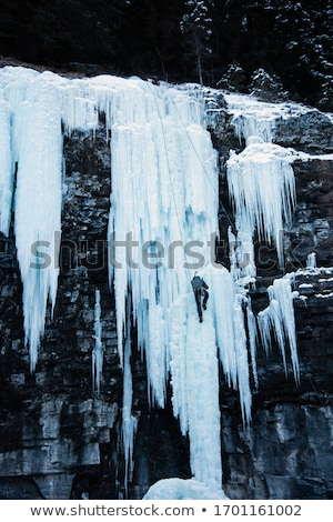 Dikey mağara kaygan dik buz duvar Stok fotoğraf © photosebia