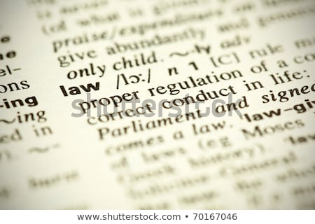Dictionary definition of the word LAW Stock photo © ivelin