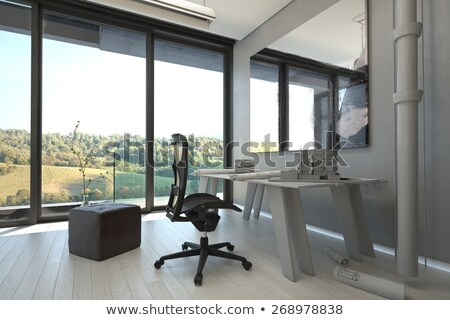 Office chair with worktable Stock photo © anyunoff
