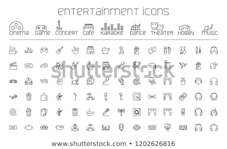 Recreatie hobby entertainment iconen vector website Stockfoto © blumer1979