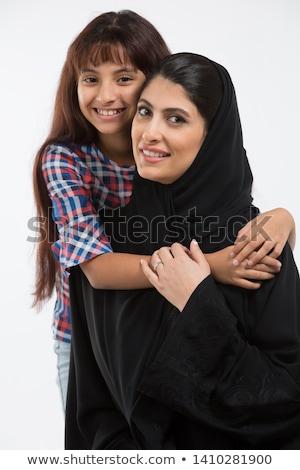 Közel-keleti nő lánygyermek lány gyermek otthon Stock fotó © monkey_business