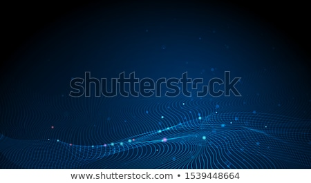 Abstract particelle curva stile Blur Foto d'archivio © anadmist