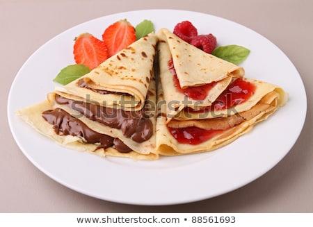 crepe with jam and chocolate Stock photo © M-studio
