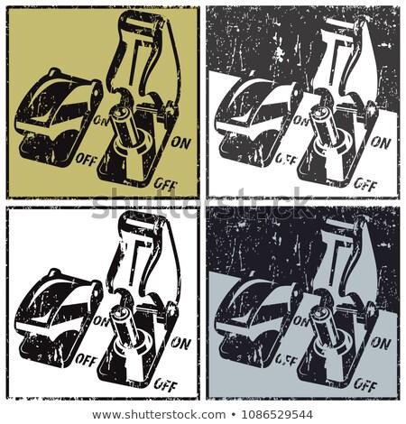 seguridad · estilizado · color · blanco · negro · interpretación · fondo - foto stock © tracer
