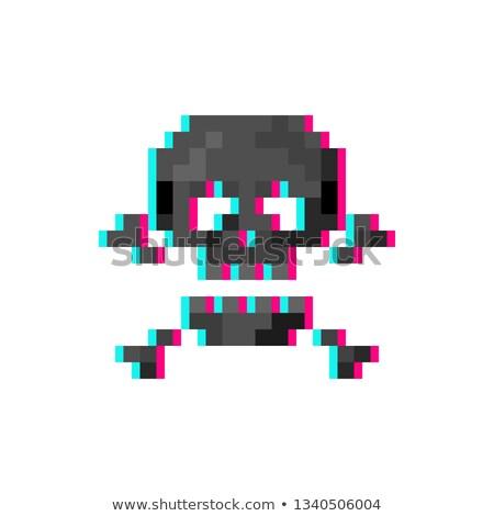 színes · koponya · ikonok · feliratok · vektor · illusztrációk - stock fotó © romvo