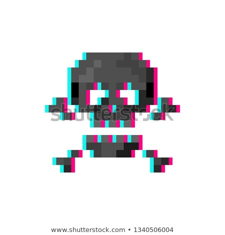black glitch hacker skull Stock photo © romvo