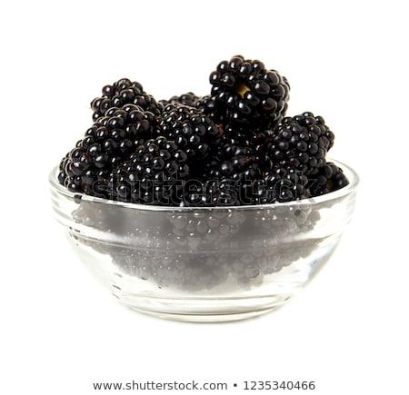 зрелый BlackBerry изолированный белый продовольствие Сток-фото © ungpaoman