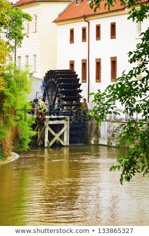 Wooden watermill in Prague Stock photo © Givaga
