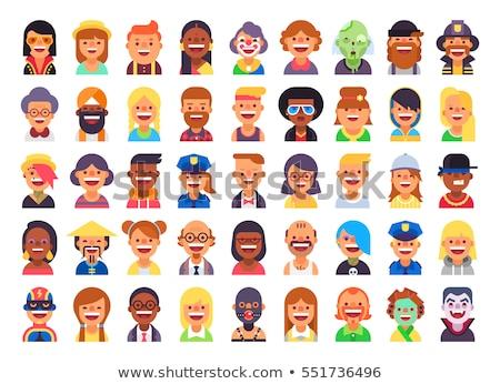 Male and female  avatars icons  flat cool modern style vector se Stock photo © NikoDzhi
