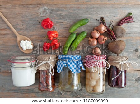 collection of naturally fermented foods stock photo © unikpix