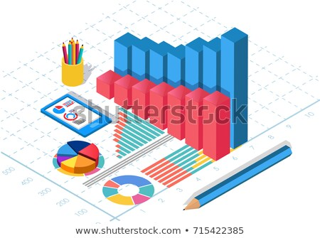business statistics and analytics flat isometric vector stock photo © tarikvision