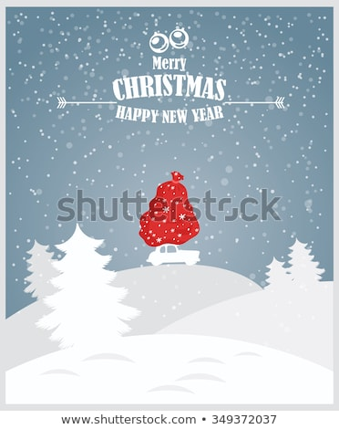 Christmas and happy new year family wintertime card Stock photo © cienpies
