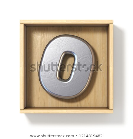 металл · серебро · шрифт · числа · нулевой · 3D - Сток-фото © djmilic