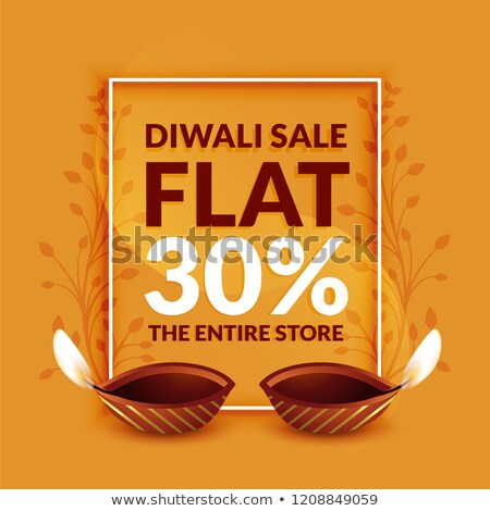Stock photo: stylish diwali discount and sale banner template design