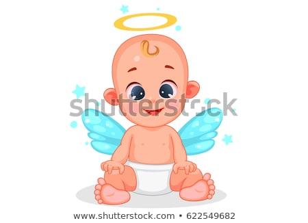 Cartoon baby engel huilen illustratie kinderen Stockfoto © cthoman