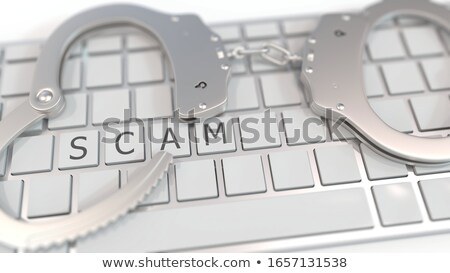 3d keyboard concept of online scammer Stock photo © nasirkhan