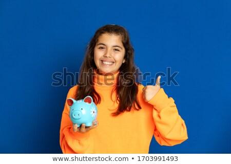 Azul establecer mujeres dinero Foto stock © toyotoyo