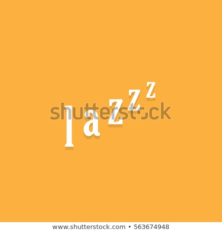 lazy typography. lazy person starts sleeping. laziness concept. vector illustration isolated on mode Stock photo © kyryloff