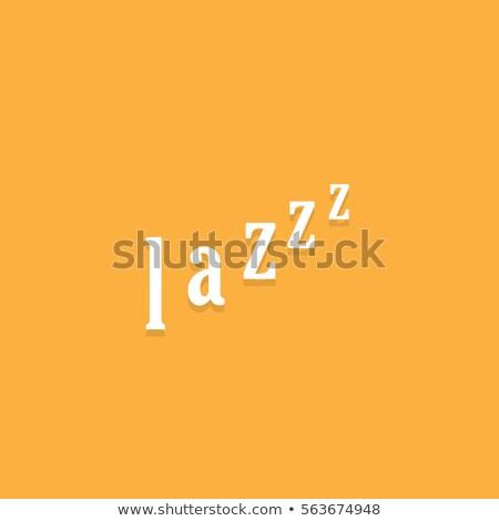 paresseux · typographie · personne · dormir · paresse · isolé - photo stock © kyryloff