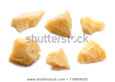 Parmesan cheese pieces, paths Stock photo © maxsol7