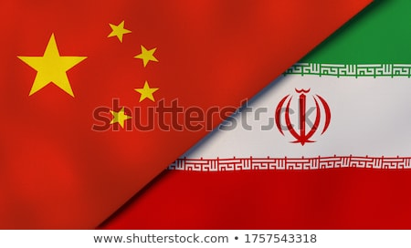 two waving flags of china and iran stock photo © mikhailmishchenko