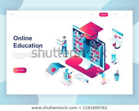 Online taal school isometrische 3d illustration Stockfoto © RAStudio