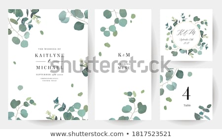 subtle elegant wedding invitation card design Stock photo © SArts