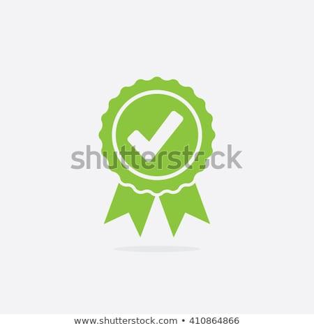 Qualidade aprovado etiqueta cartaz dourado texto Foto stock © robuart