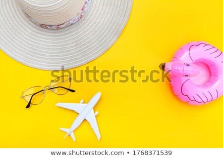 vektor · nyári · szabadság · ikon · gyűjtemény · kék · tenger · eps10 - stock fotó © netkov1