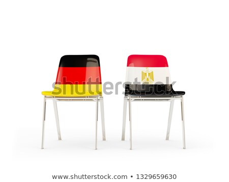 Two chairs with flags of Germany and egypt Stock photo © MikhailMishchenko