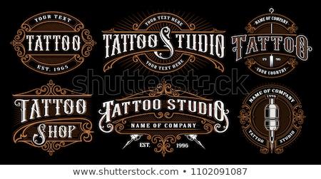 Klasszikus tetoválás szalon eps 10 iskola Stock fotó © netkov1