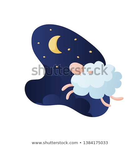 Sheep sleep graphic design template vector illustration Stock photo © haris99