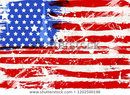 vetor · distintivo · bandeira · americana · dia · vidro · estrelas - foto stock © colematt