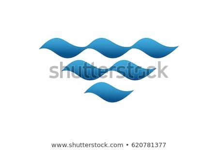 Water wave vector logo design template, water icon, aqua sign, twirl symbol, Vector illustration iso stock photo © kyryloff