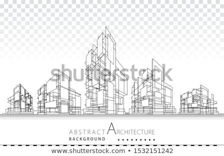Arquitetura desenho diagrama equipamentos de segurança secretária Foto stock © AndreyPopov