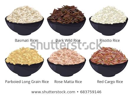 Polido longo arroz branco cerâmico Foto stock © Melnyk