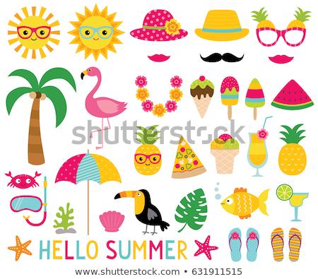 夏 パーティ フルーツ カクテル 動物 鳥 ストックフォト © robuart