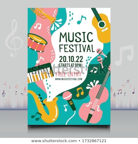 Festival di musica flyer modello speaker luce effetto Foto d'archivio © SArts