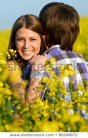Heureux souriant jaune vert viol Photo stock © Lopolo