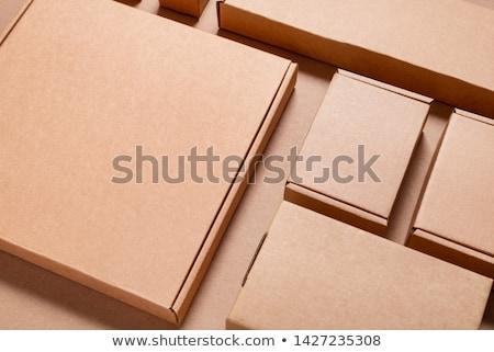 ブラウン 配信 包装 ボックス カートン 孤立した ストックフォト © netkov1
