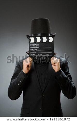 ヴィンテージ · グレー · 帽子 · 黒 · 服 - ストックフォト © elnur