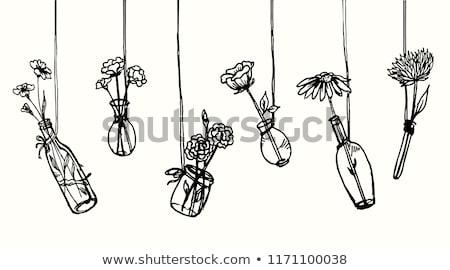 Virág lakberendezés belső vektor váza virág vektor Stock fotó © robuart