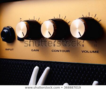 Stock fotó: Zenész · hangerő · amper · felfelé · gyártmány · zene