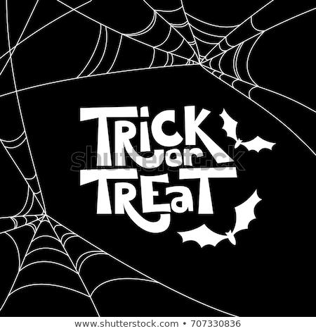 Hile halloween örümcek ağı afiş dizayn Stok fotoğraf © SArts
